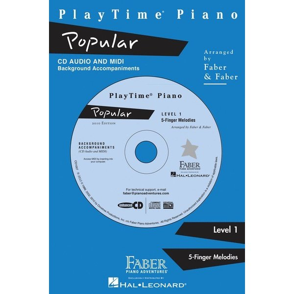 Hal Leonard PlayTime Piano - Popular Level 1 CD