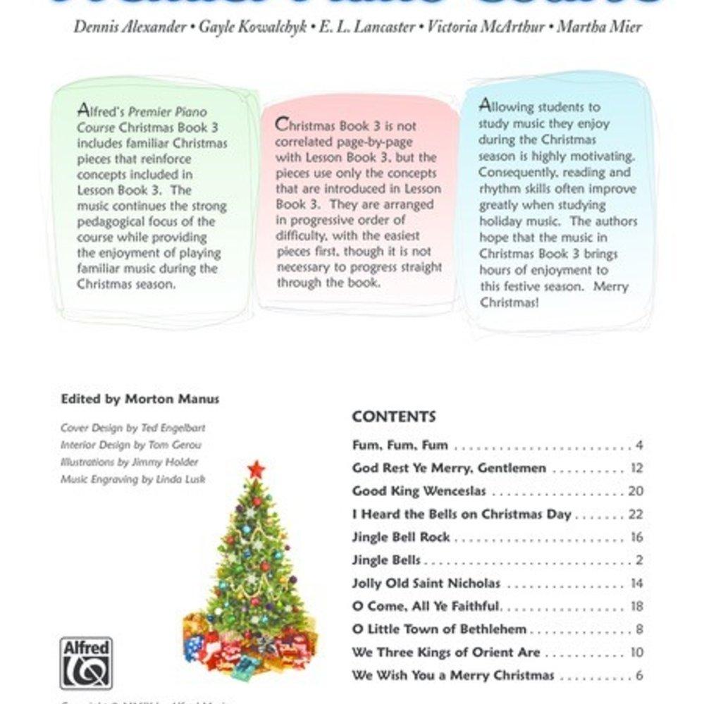 Bk 3 Premier Piano Course Christmas