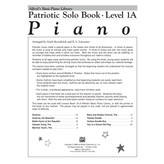 Alfred Music Alfred's Basic Piano Library: Patriotic Solo Book 1A