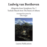 Lauren Publications Beethoven - Allegretto from Symphony No. 7 / Turkish March from the Ruins of Athens