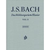 Henle Urtext Editions Bach - The Well-Tempered Clavier Part 2 Hardcover w/ fingering
