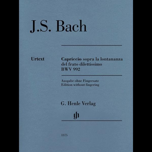 Henle Urtext Editions Bach - Capriccio sopra la lontananza, BWV 992