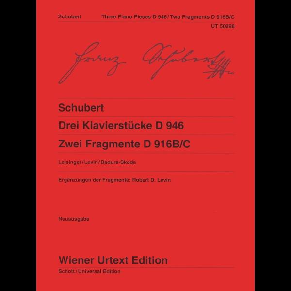 Wiener Urtext Edition Schubert - Three Piano Pieces, 2 Fragments