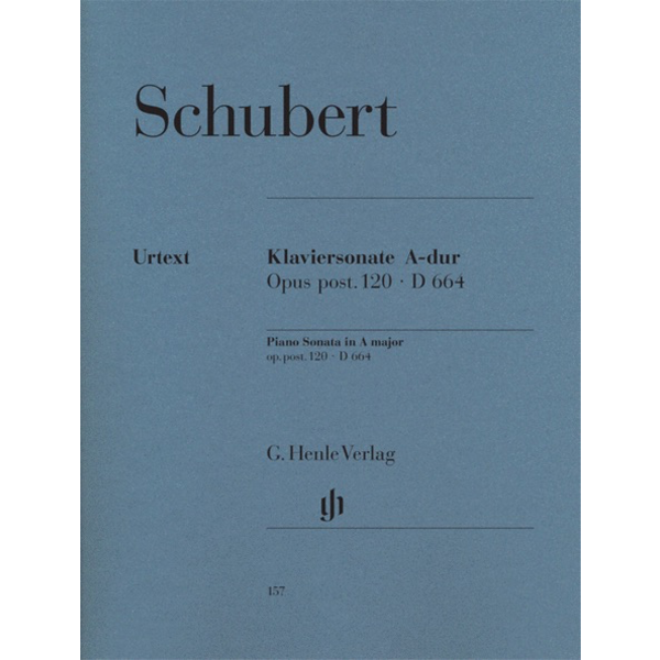 Henle Urtext Editions Schubert - Piano Sonata A Major Op. Posth. 120 D 664