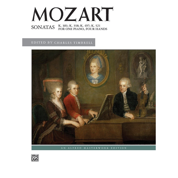 Alfred Music Mozart - Sonatas for One Piano, Four Hands