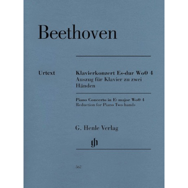 Henle Urtext Editions Beethoven - Piano Concerto in E-Flat Major WoO 4