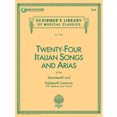 Schirmer 24 Italian Songs & Arias - Medium Low Voice (Book/CD)