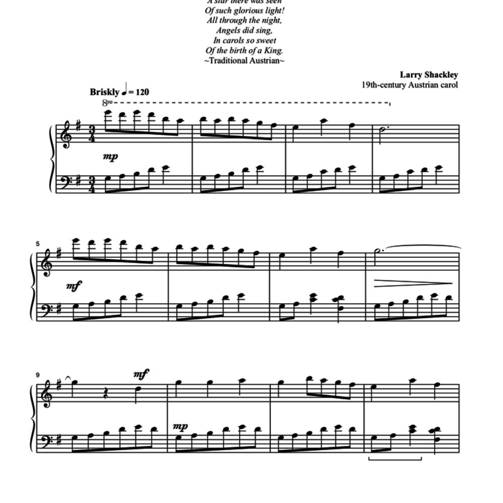 Piano Christmas Music.A Treasury Of Christmas Carols For Piano