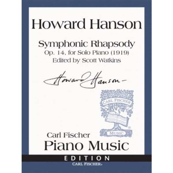Carl Fischer Symphonic Rhapsody Op. 14, for Solo Piano (1919)