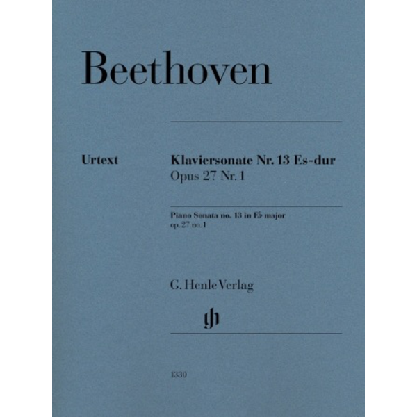 Henle Urtext Editions Beethoven - Piano Sonata No. 13 E-flat Major Op. 27 No. 1