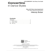 Alfred Music Bober - Concertino in Dance Styles