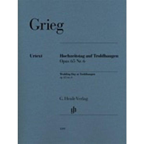 Henle Urtext Editions Henle Urtext - Edvard Grieg - Wedding Day at Troldhaugen, Op. 65 No. 6