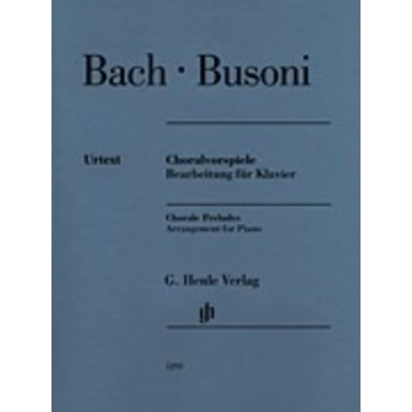 Henle Urtext Editions Henle Urtext - Bach/Busoni - Chorale Preludes