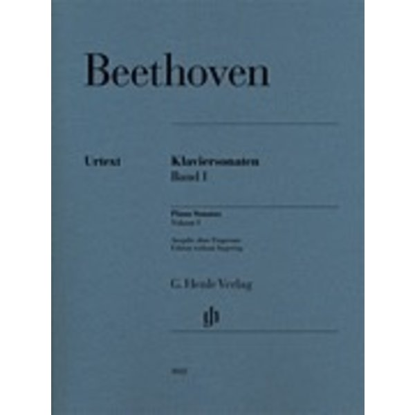 Henle Urtext Editions Hene Urtext - Beethoven - Piano Sonatas Volume 1 - Without Fingering