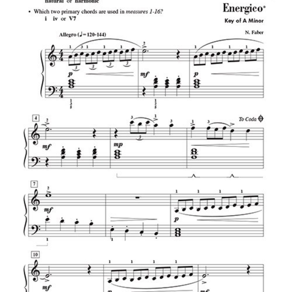 Whispers of the Wind Early Intermediate Level 3B Piano Solo Faber Pian 000420041