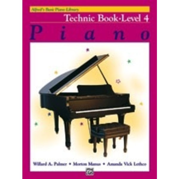 Alfred Music Alfred's Basic Piano Course: Technic Book 4