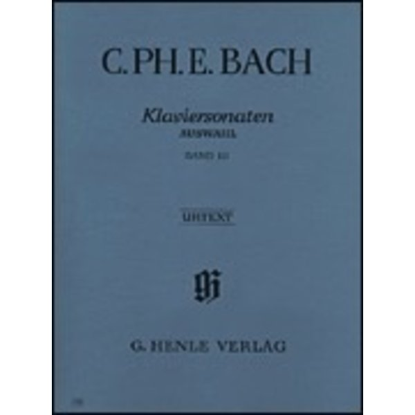 Henle Urtext Editions C. Ph. E. Bach - Selected Piano Sonatas - Volume III