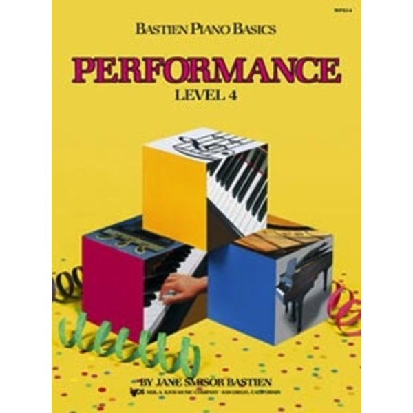 Bastien Piano Bastien Piano Basics, Level 4, Performance