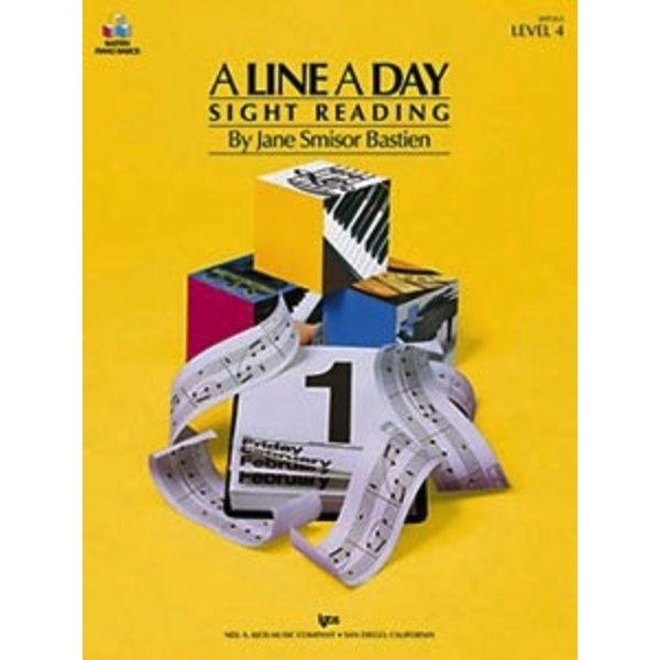 Bastien Piano A Line A Day Sight Reading, Level 4