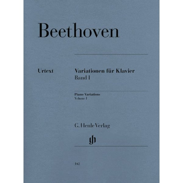 Henle Urtext Editions Beethoven - Variations for Piano - Volume I
