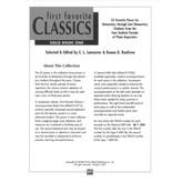Alfred Music First Favorite Classics: Solo, Book 1