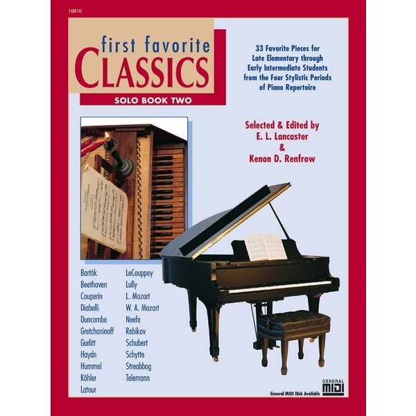 Alfred Music First Favorite Classics: Solo, Book 2