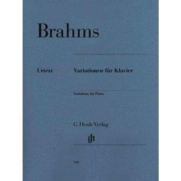Henle Urtext Editions Brahms - Variations for Piano