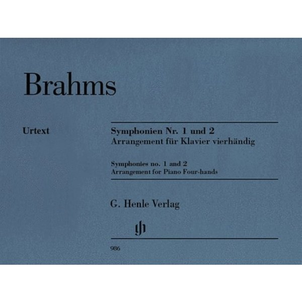 Henle Urtext Editions Brahms - Symphonies Nos. 1 and 2
