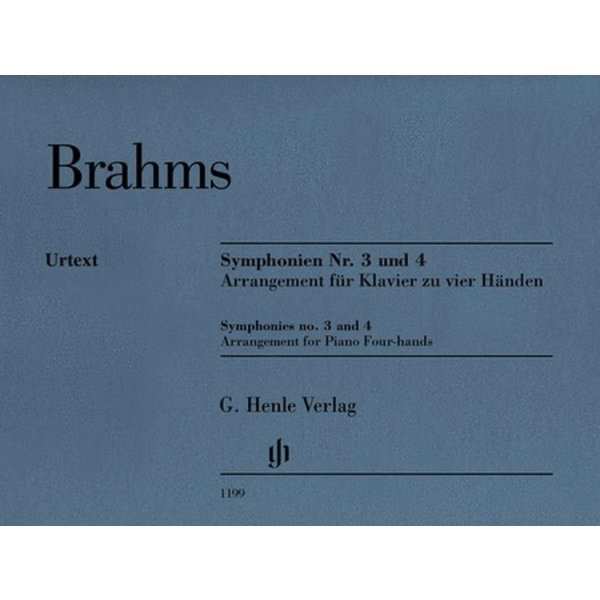 Henle Urtext Editions Brahms - Symphonies No. 3 and 4
