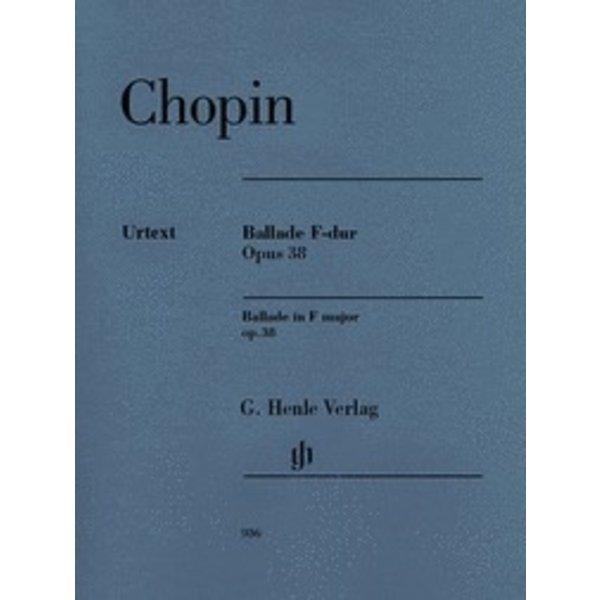 Henle Urtext Editions Chopin - Ballade in F Major, Op. 38