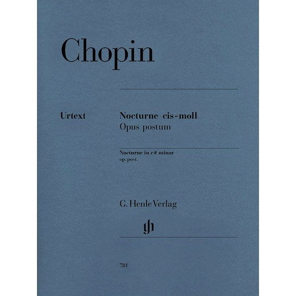 Henle Urtext Editions Chopin - Nocturne in C Sharp minor Op. Posth.