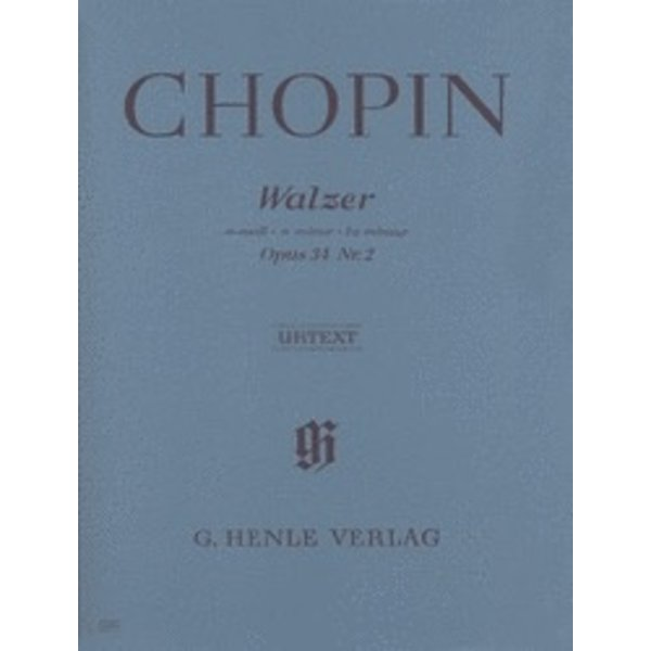 Henle Urtext Editions Chopin - Waltz in A minor Op. 34, No. 2