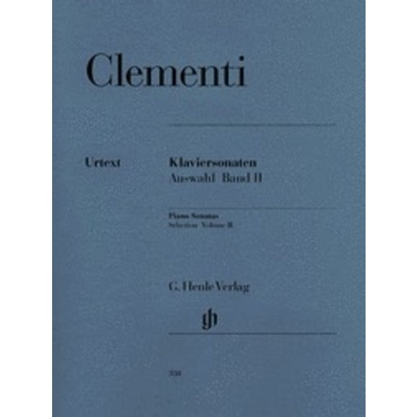 Henle Urtext Editions Clementi - Selected Piano Sonatas - Volume II (1790-1805)