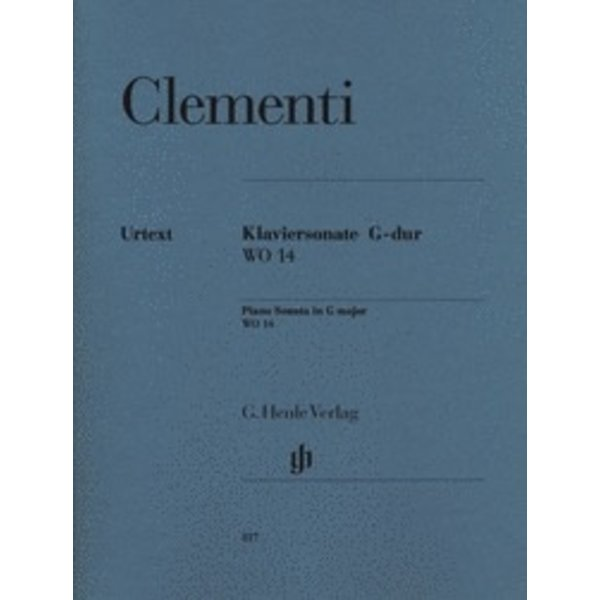 Henle Urtext Editions Clementi - Piano Sonata in G Major WO 14