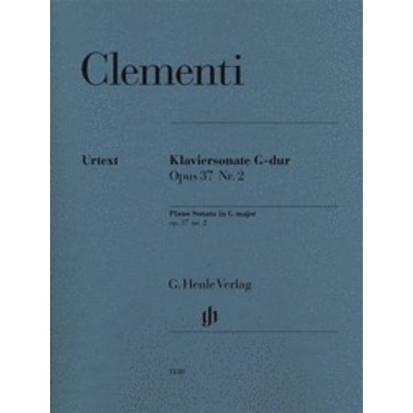 Henle Urtext Editions Clementi - Piano Sonata in G Major, Op. 37, No. 2