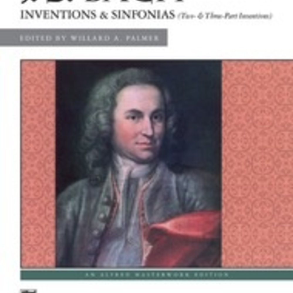 Two Inventions and Sinfonias Bach Comb Bound Book and Three-Part Inventions
