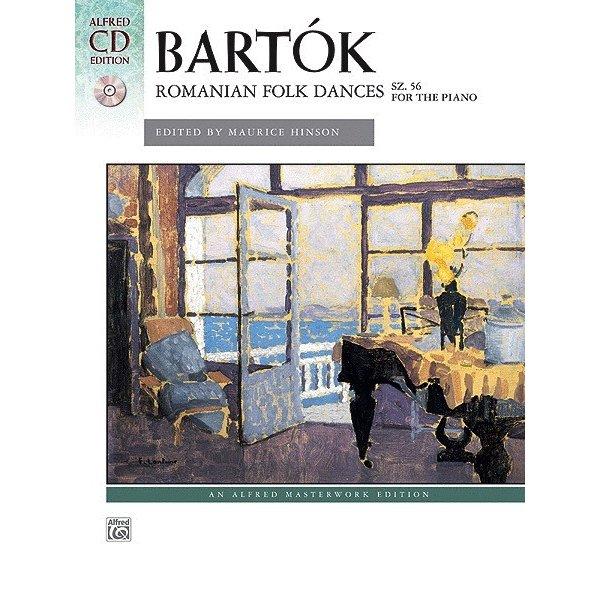 Alfred Music Bartók - Romanian Folk Dances, Sz. 56 for the Piano Book & CD