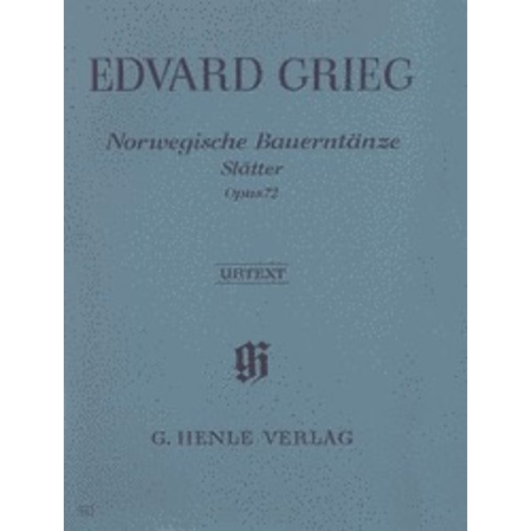 Henle Urtext Editions Grieg - Norwegian Peasant Dances (Slåtter) Op. 72