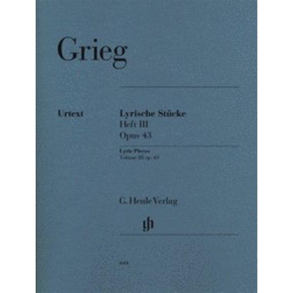 Henle Urtext Editions Grieg - Lyric Pieces, Volume III Op. 43