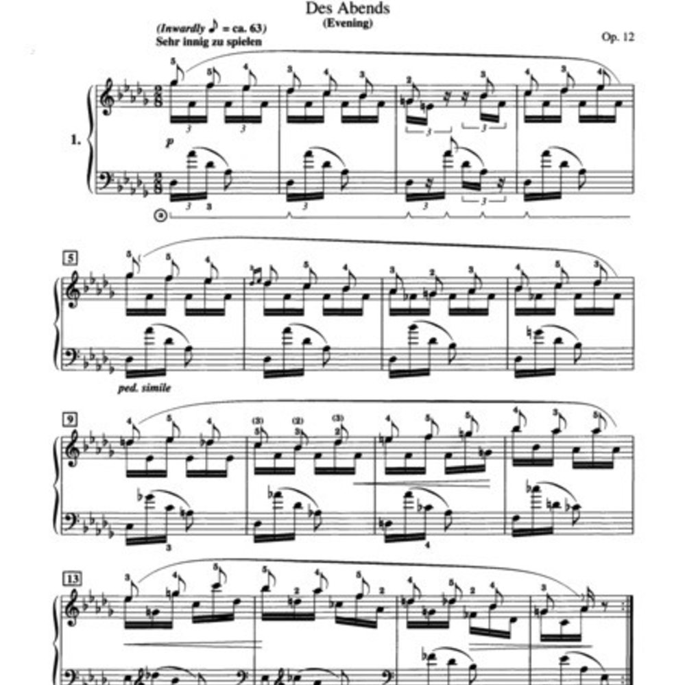 Schumann - Fantasiestücke, Opus 12