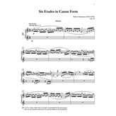 Alfred Music Six Etudes in Canon Form, Opus 56
