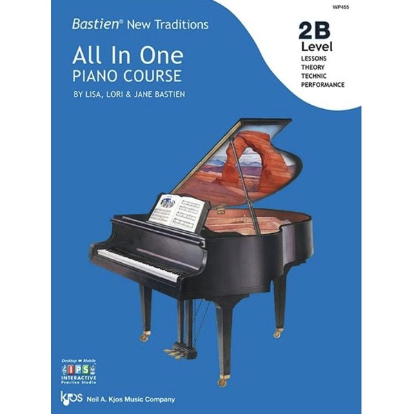 Kjos Bastien New Traditions: All In One Piano Course - Level 2B