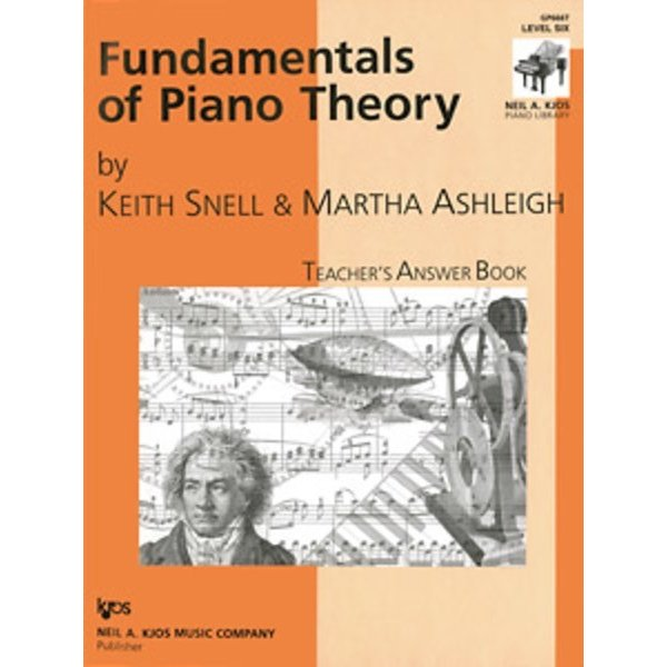 Kjos Fundamentals of Piano Theory Level 6 Answer Book