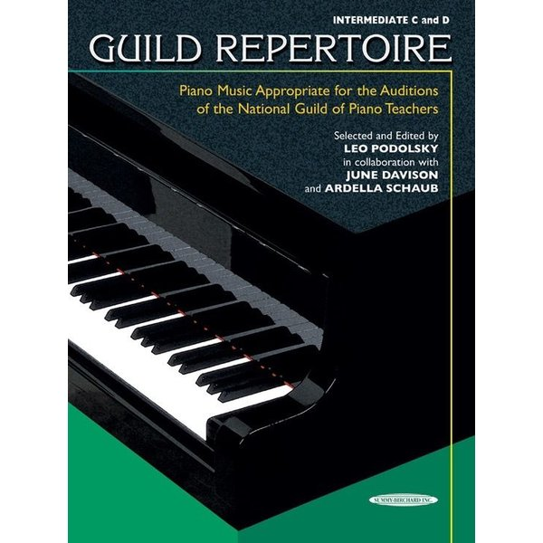 Alfred Music Guild Repertoire: Piano Music Appropriate for the Auditions of the National Guild of Piano Teachers, Intermediate C & D