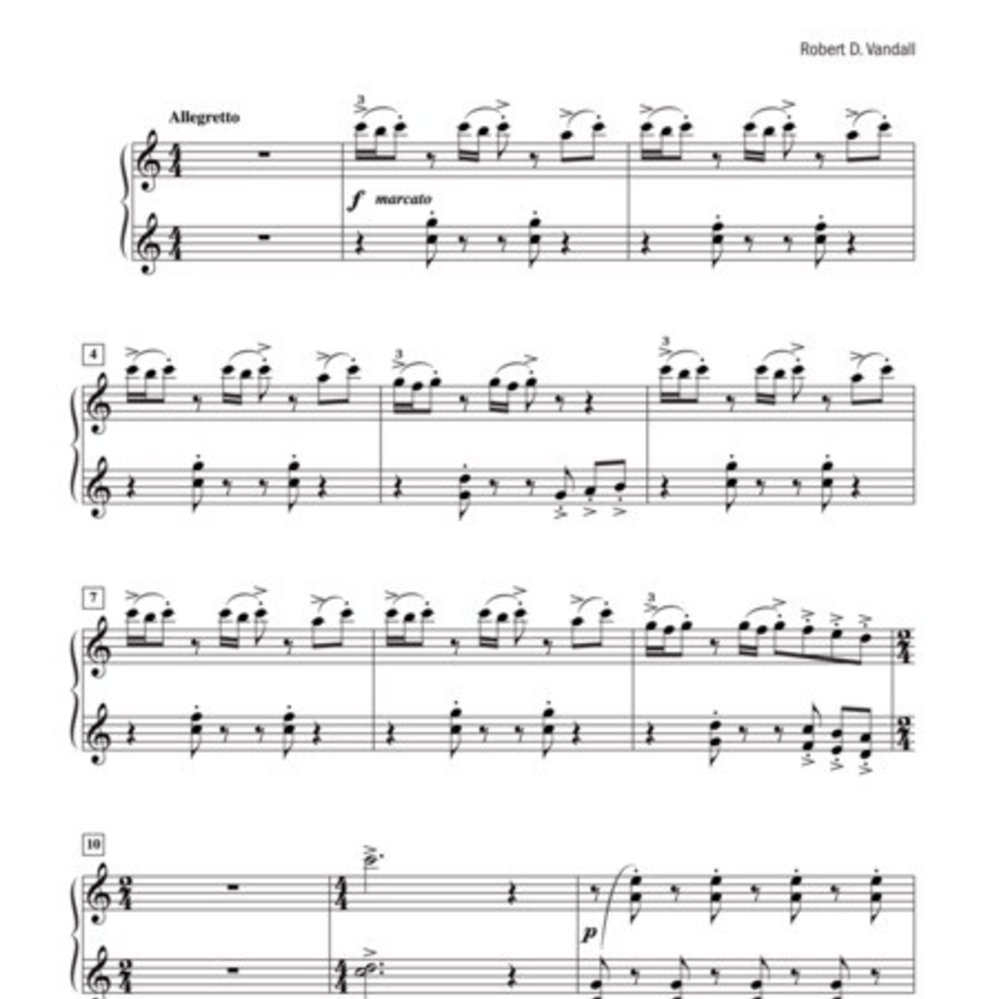 Sacred Music for Piano Duet By Robert D Vandall