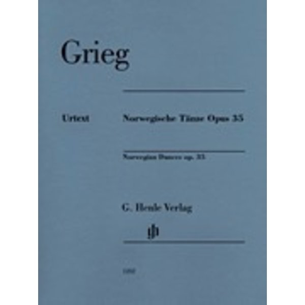 Henle Urtext Editions Grieg - Norwegian Dances Op.35 Piano
