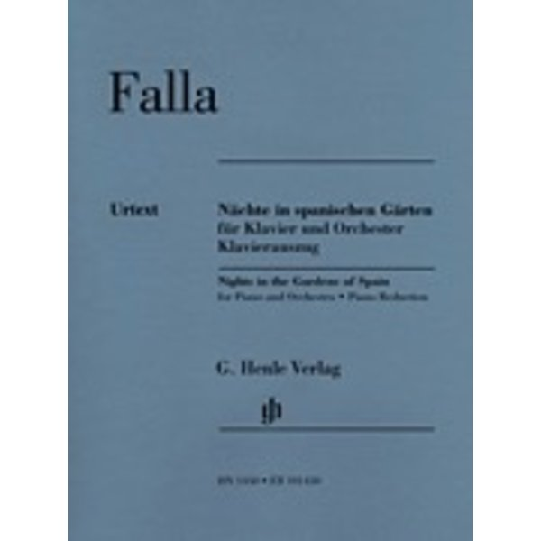 Henle Urtext Editions Falla - Nights in the Gardens of Spain