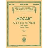 Schirmer Mozart - Concerto No. 16 in D, K.451