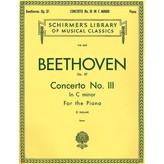 Schirmer Beethoven - Concerto No. 3 in C Minor, Op. 37 (2-piano score)