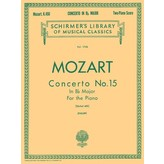 Schirmer Mozart - Concerto No. 15 in Bb, K. 450